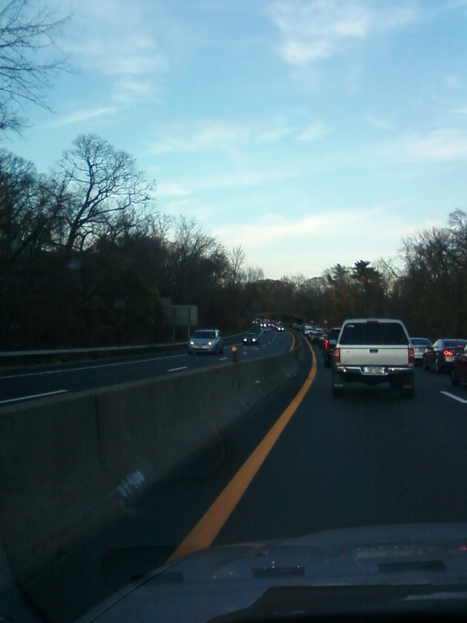 12/04/2012- Gridlock on Hutchinson River Parkway southbound, Bronx County, caused by motorists avoiding I-95 tolls